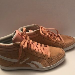 Reebok peach high top sneakers